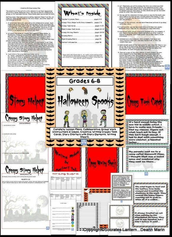 Halloween Spooks: Creative Writing Activity for Middle School | Fall