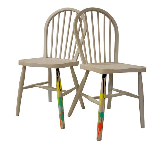 Pair Of Vintage Stickback Chairs Upcycled By Jay Blades