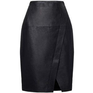 Enrole Couro Pencil Skirt