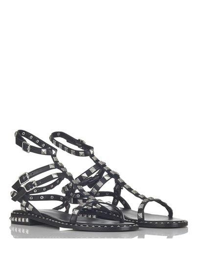 Spartiates en cuir à studs Poison Bis Noir by ASH   shoes   Studs ... e603d460c26a