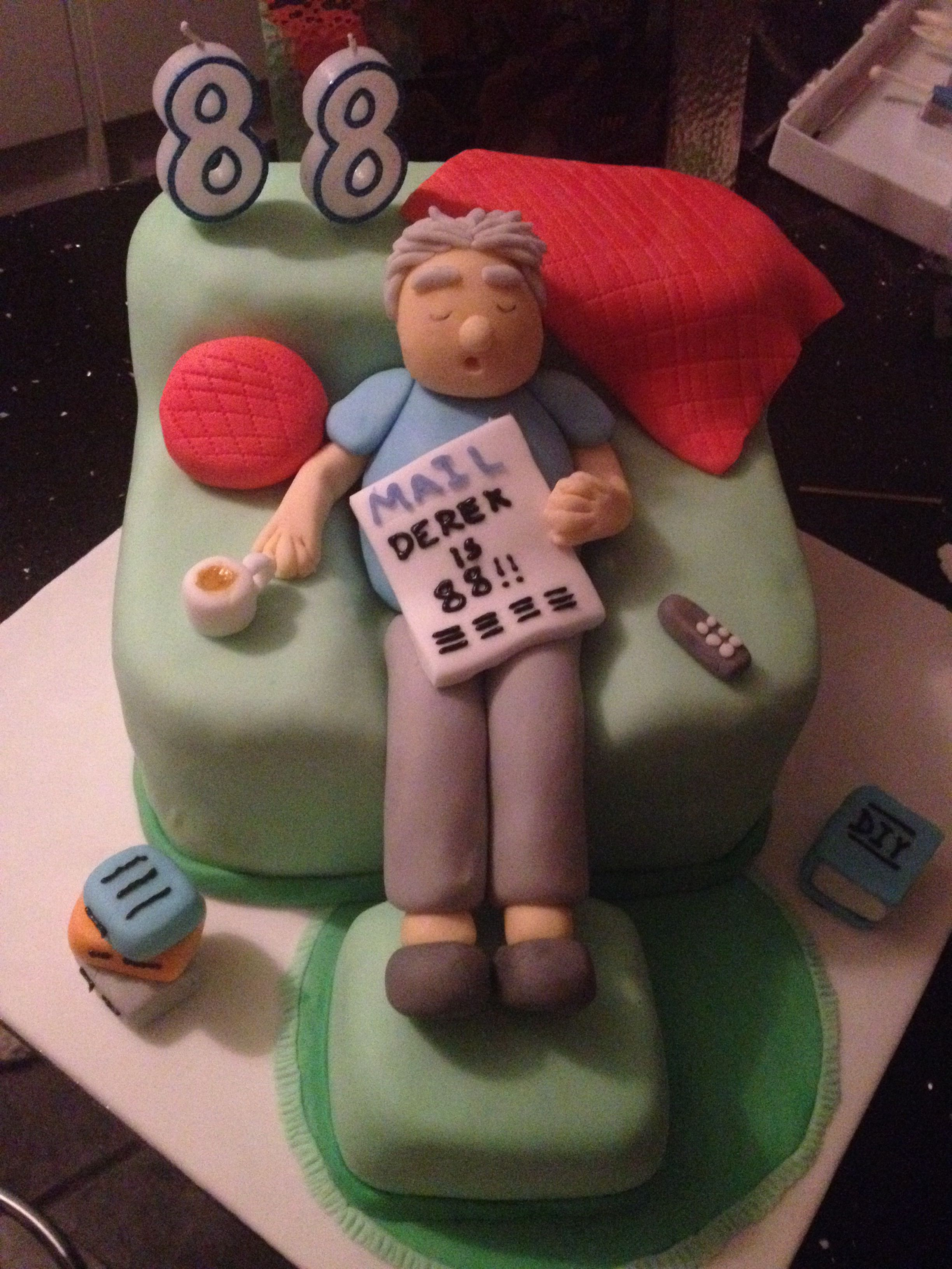 Sleeping Grandad Birthday Cake Cakes And Bakes In 2019