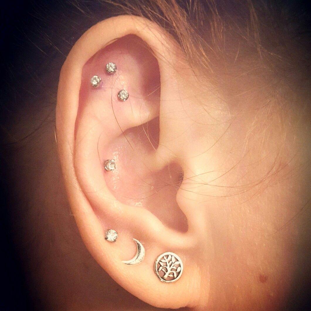 Constellation piercing  Piercings u Tattoos  Pinterest  Piercings