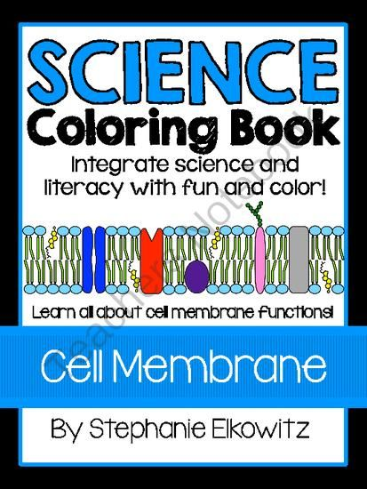 Cell Membrane Structure and Function Coloring Book from Stephanie ...