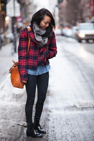 Gap Plaid Jacket, Madewell Camel Zipper Tote, Jeffrey Campbell ...