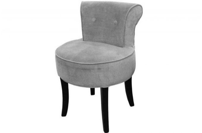petit fauteuil boudoir velours gris fauteuils classiques. Black Bedroom Furniture Sets. Home Design Ideas