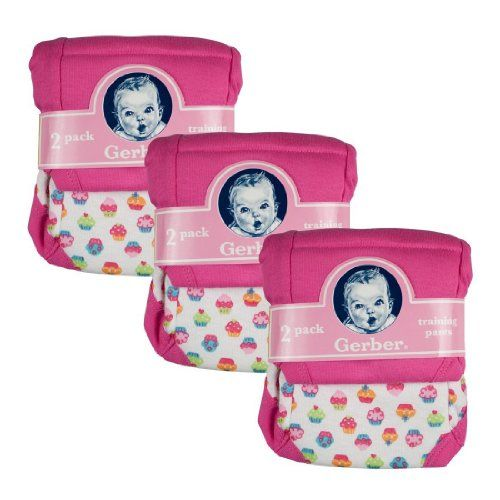 Gerber Training Pants 3T Girl 6 pack 32-35 pounds 2012 $14.75