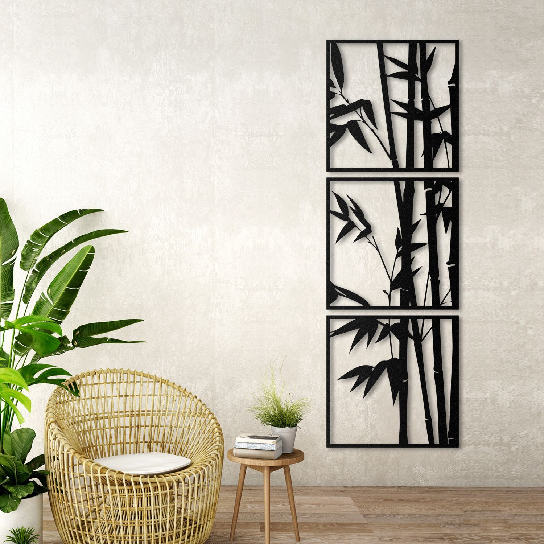 Bamboo Large Metal Wall Art Vertical Wall Decor Extra Large Etsy Wall Art Living Room Wall Decor Metal Wall Decor Extra large metal wall art