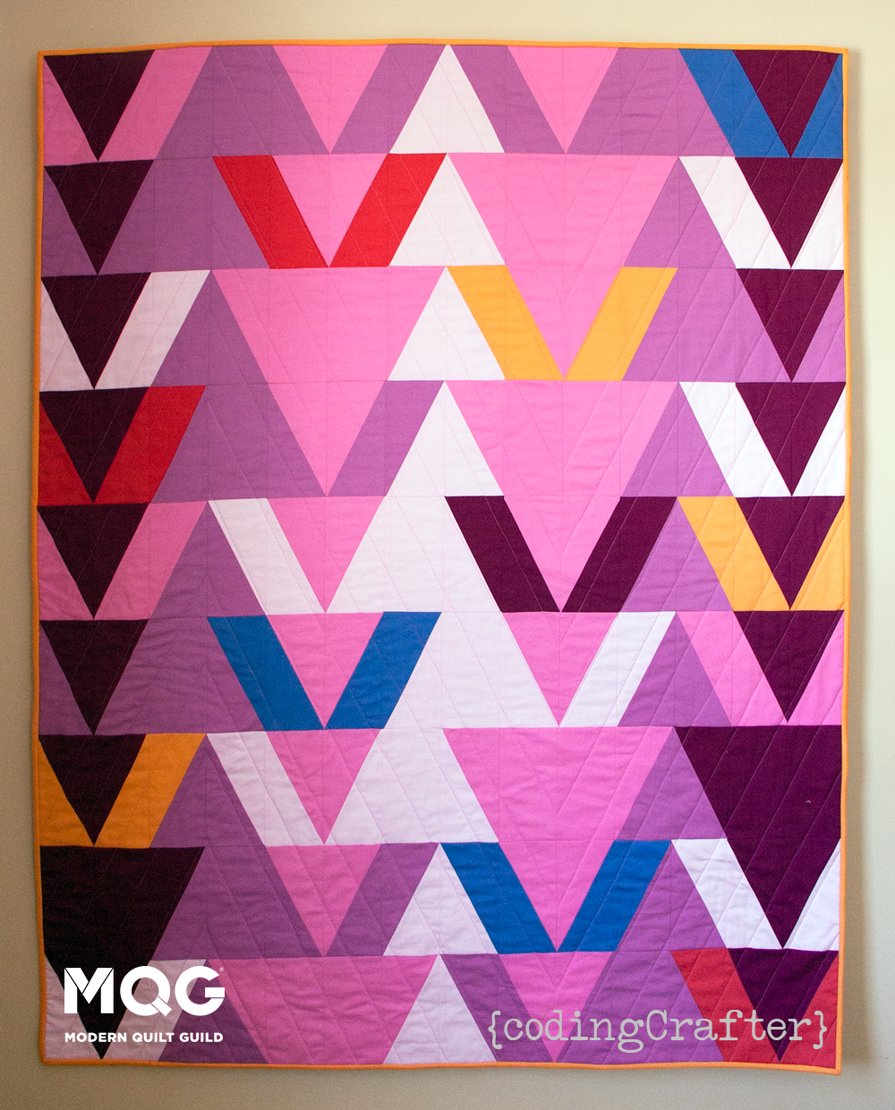 MQG Quilt of the Month, April 2015: Boids by Gillian Smith | Download the free pattern by becoming a member of the MQG at themodernquiltguild.com/join.