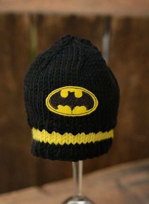 9e88d8681 Batman Baby Hat, Baby Batman, Batman Beanie, Baby Boy Hats ...