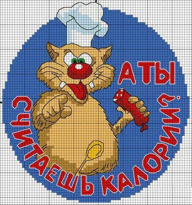 Очаровательная вышивка крестиком Коты и Котята - простые ...