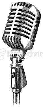 Retro Microphone Microphone Tattoo Old Microphone Microphone Drawing