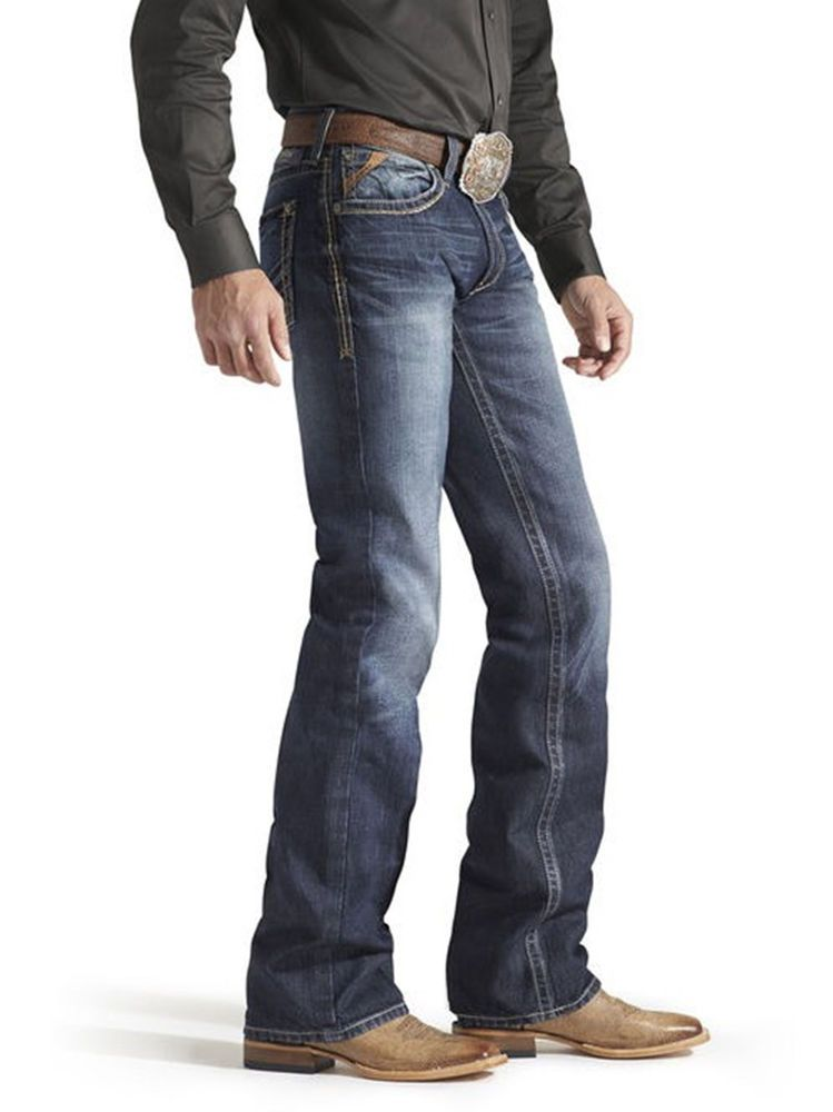 Ariat M4 10013999 Jeans Wired Carbon Mens Western Rodeo Cowboy Nwt 32 X 38 Well Dressed Men Mens Outfits Western Outfits