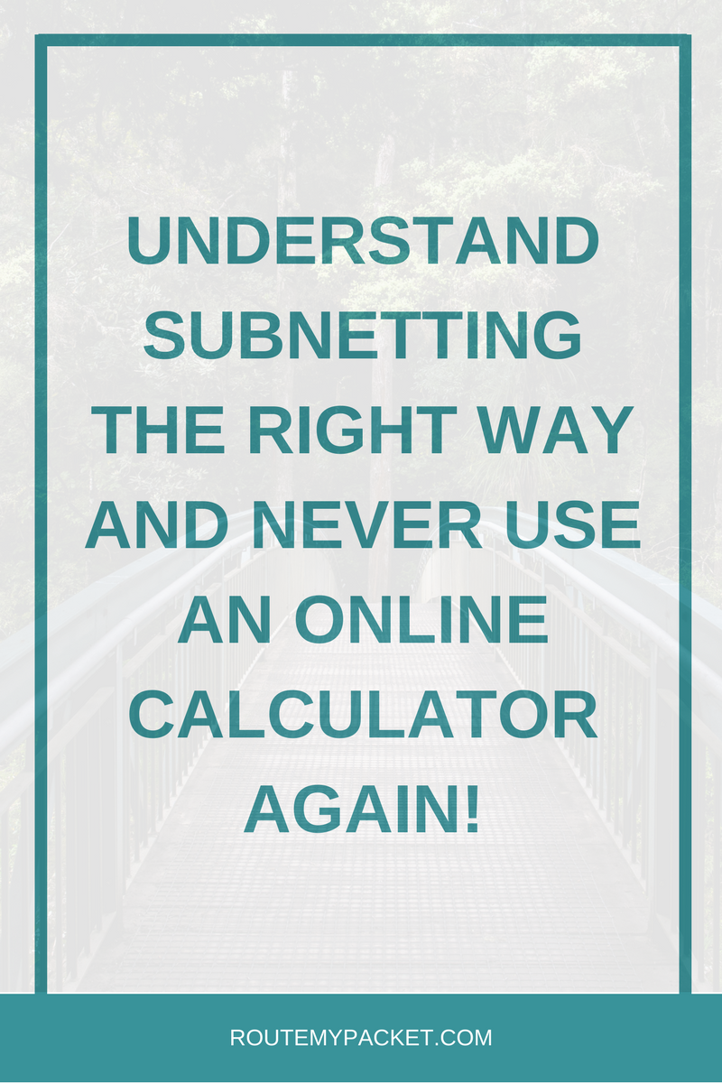 Discover an absolutely amazing way to calculate subnetting