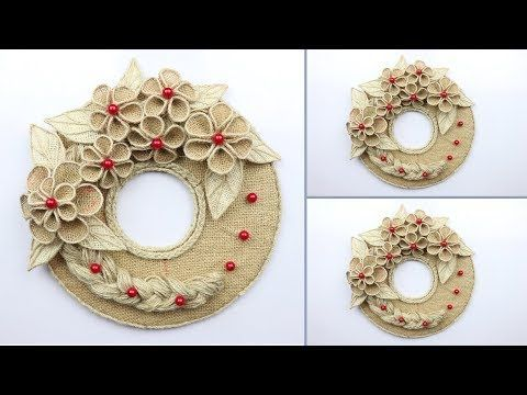 Beautiful Wall Hanging Idea with Waste Materials  best out of waste  Home Decoration Ideas  YouTube