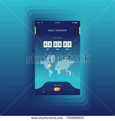Modern ui mobile app for online transfer money with timer mobile app for online transfer money with timer countdown ux application and gumiabroncs Gallery