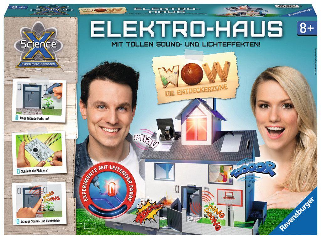 3d Haus Mit Programmierter Platine Und Leitender Farbe Strom Sound