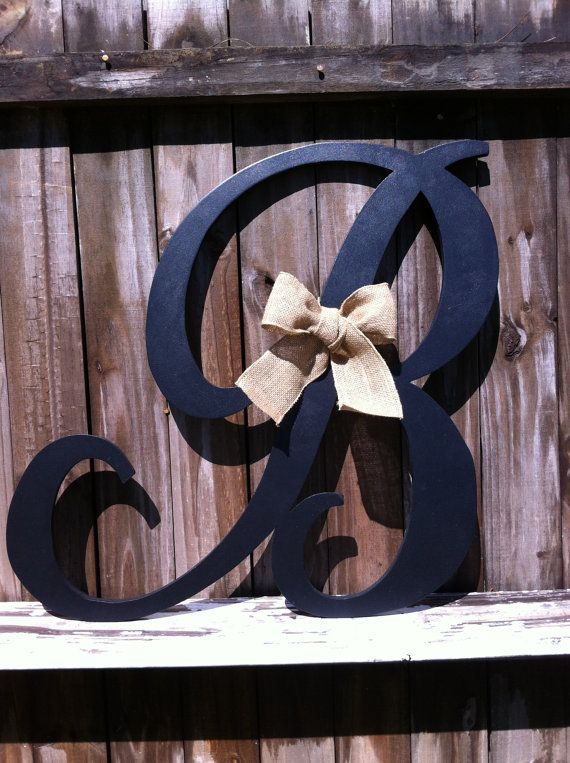 hand cut wood letter b 24 any letter a z any by vintageshore 4500