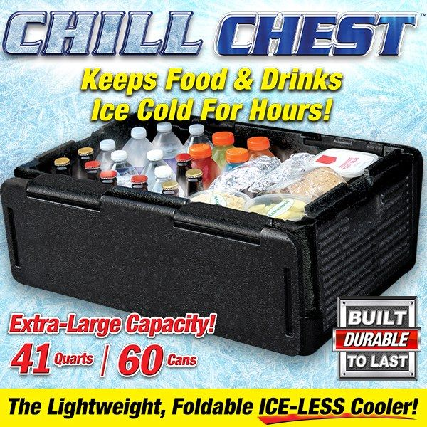 Chill Chest Cooler Chill Camping Cooking Supplies
