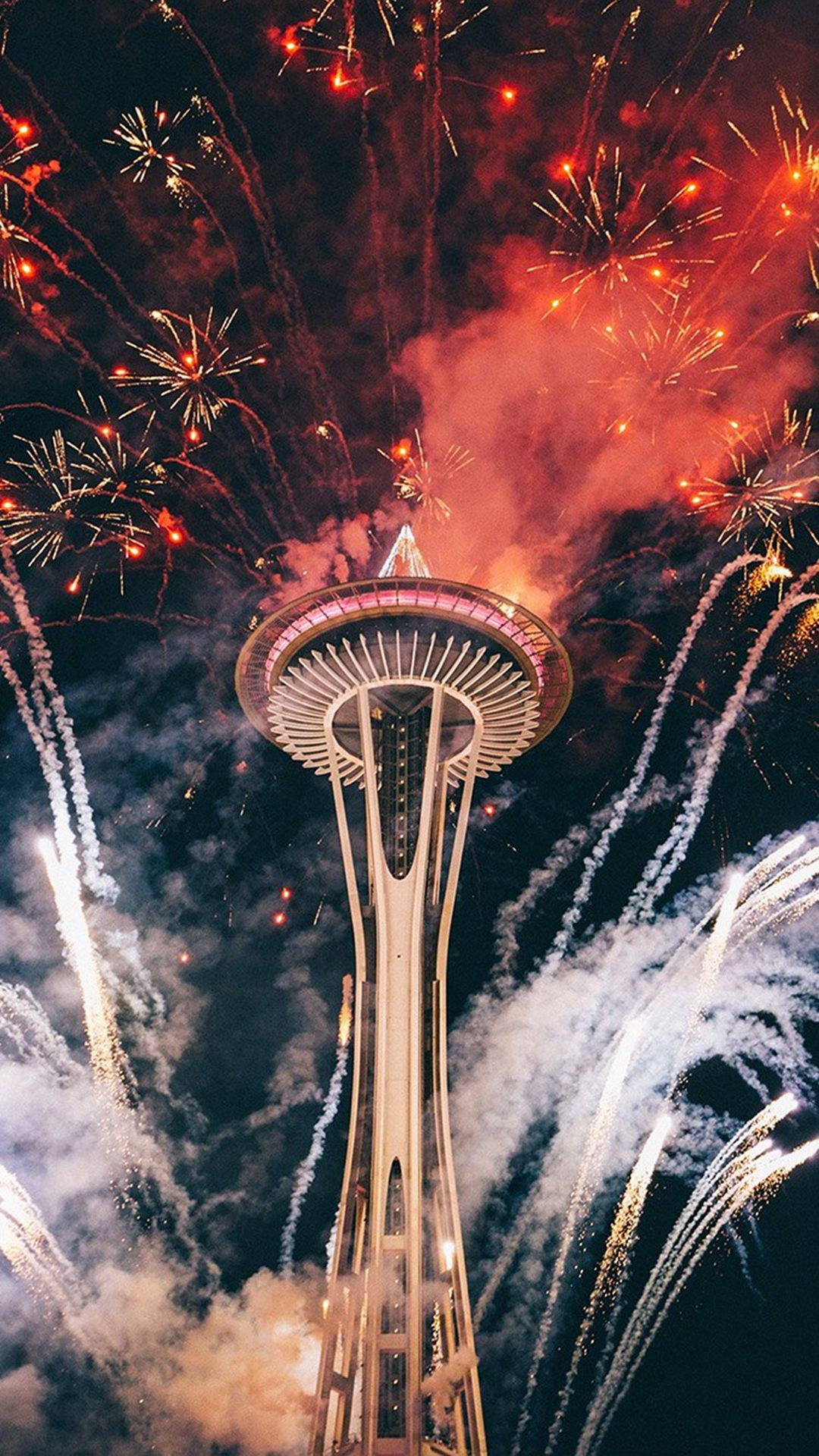 Firework Night Sky Lovely Tower City Iphone 6 Plus Wallpaper Fireworks Photography Photographing Fireworks Fireworks Photo