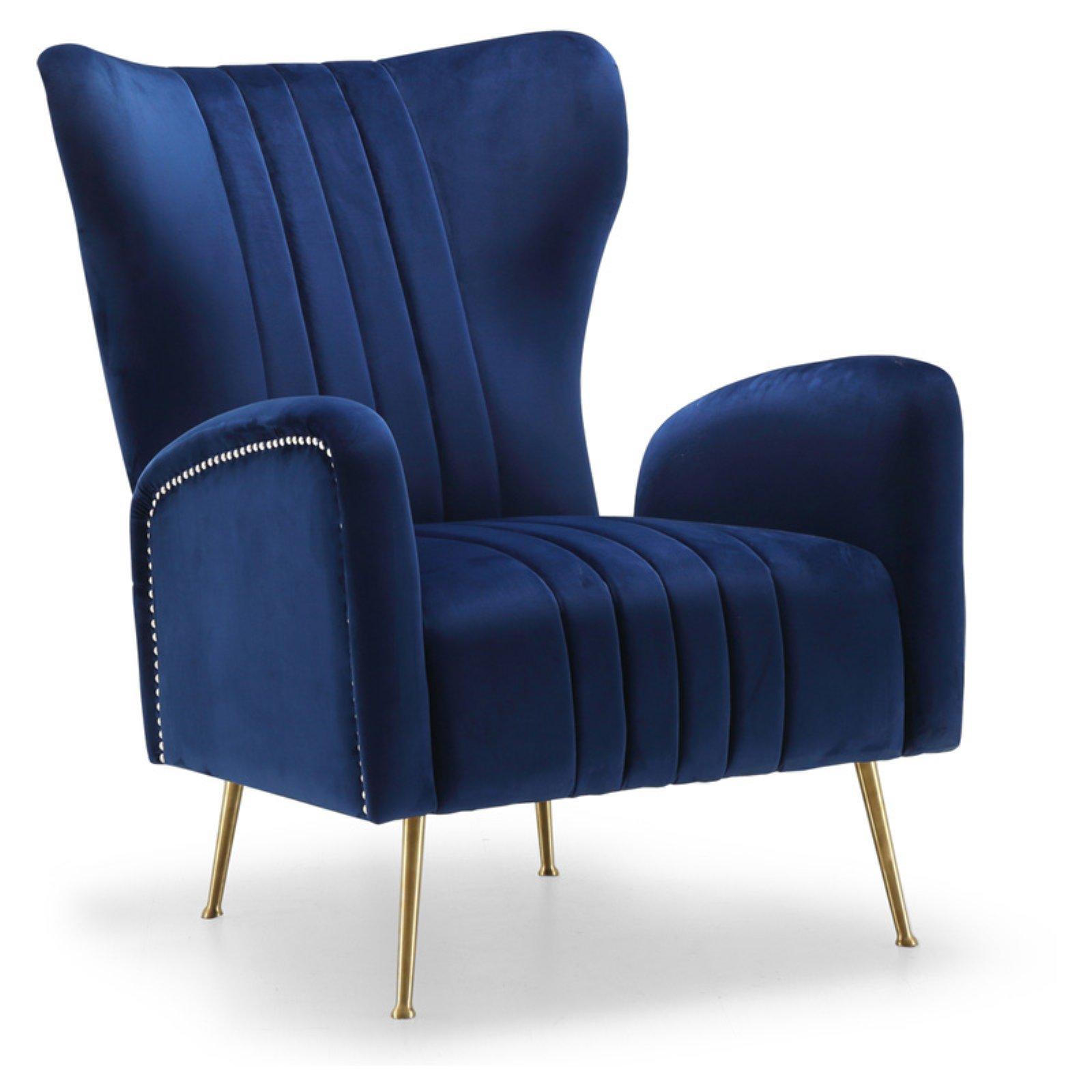 Meridian Furniture Inc Opera Velvet Accent Chair Velvet Accent