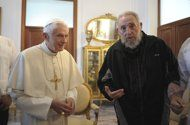 I find this to be an equally important part of Politics.... Castro asks the Pope: So what do you do? (as a pope)