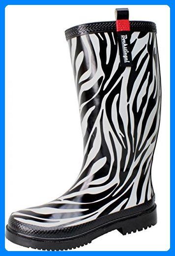 Bockstiegel Damen Gummistiefel Zebra, Farbe:schwarz, Größe:36 - Stiefel für  frauen