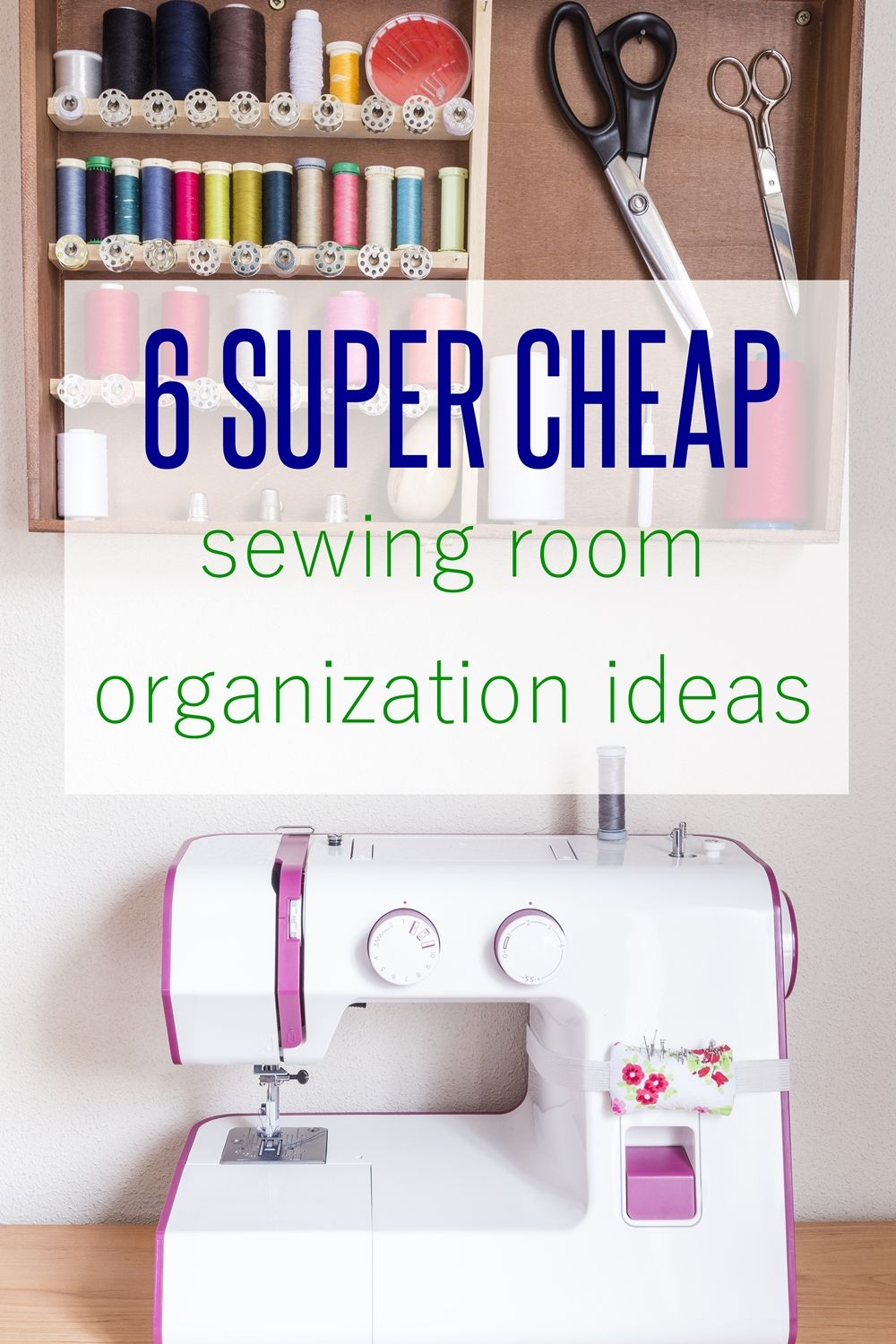 sewing room decor | craft storage ideas | sewing organization | sewing room