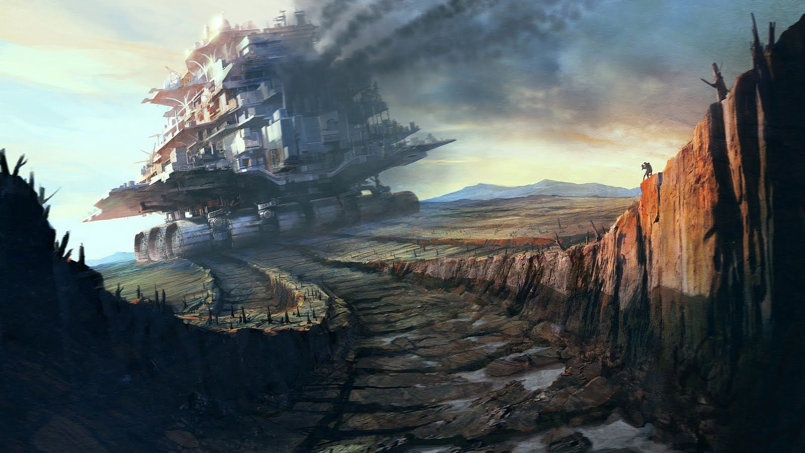 Post Apocalyptic Dystopian Wallpaper Dump As Requested By Rayquazasdarkbrother Fantasy Landscape Mortal Engines Steampunk Wallpaper