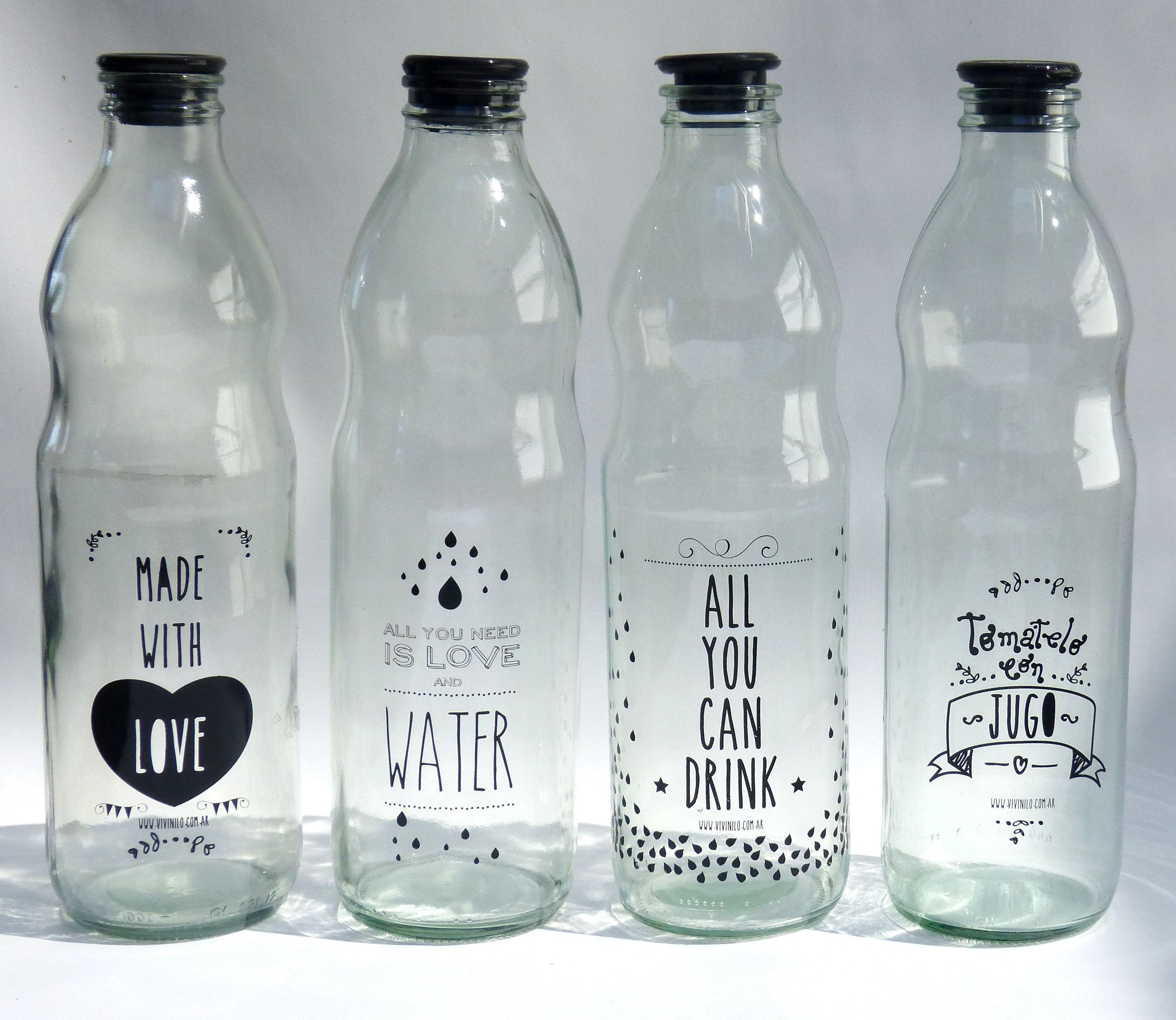 Nuevos dise os botellas de vidrio de 1 litro - Vasos grandes cristal ...