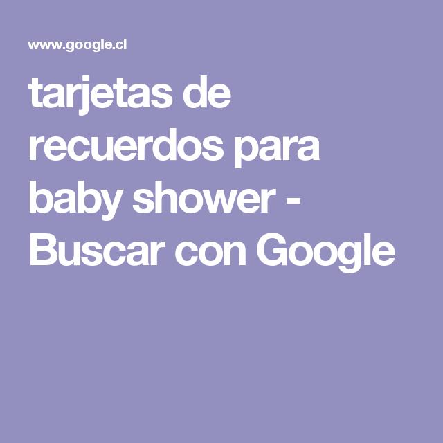 tarjetas de recuerdos para baby shower - Buscar con Google