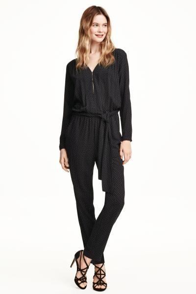 14211b19f6c76 Combi-pantalon noire à pois   H M   entre saisons   Pinterest ...