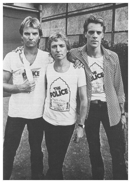 Sting turns 64 today - he was born 10-2 in 1951 - here's Sting on the left with fellow Police Andy Summers (center) and Stewart Copeland (right) in the early 80s.