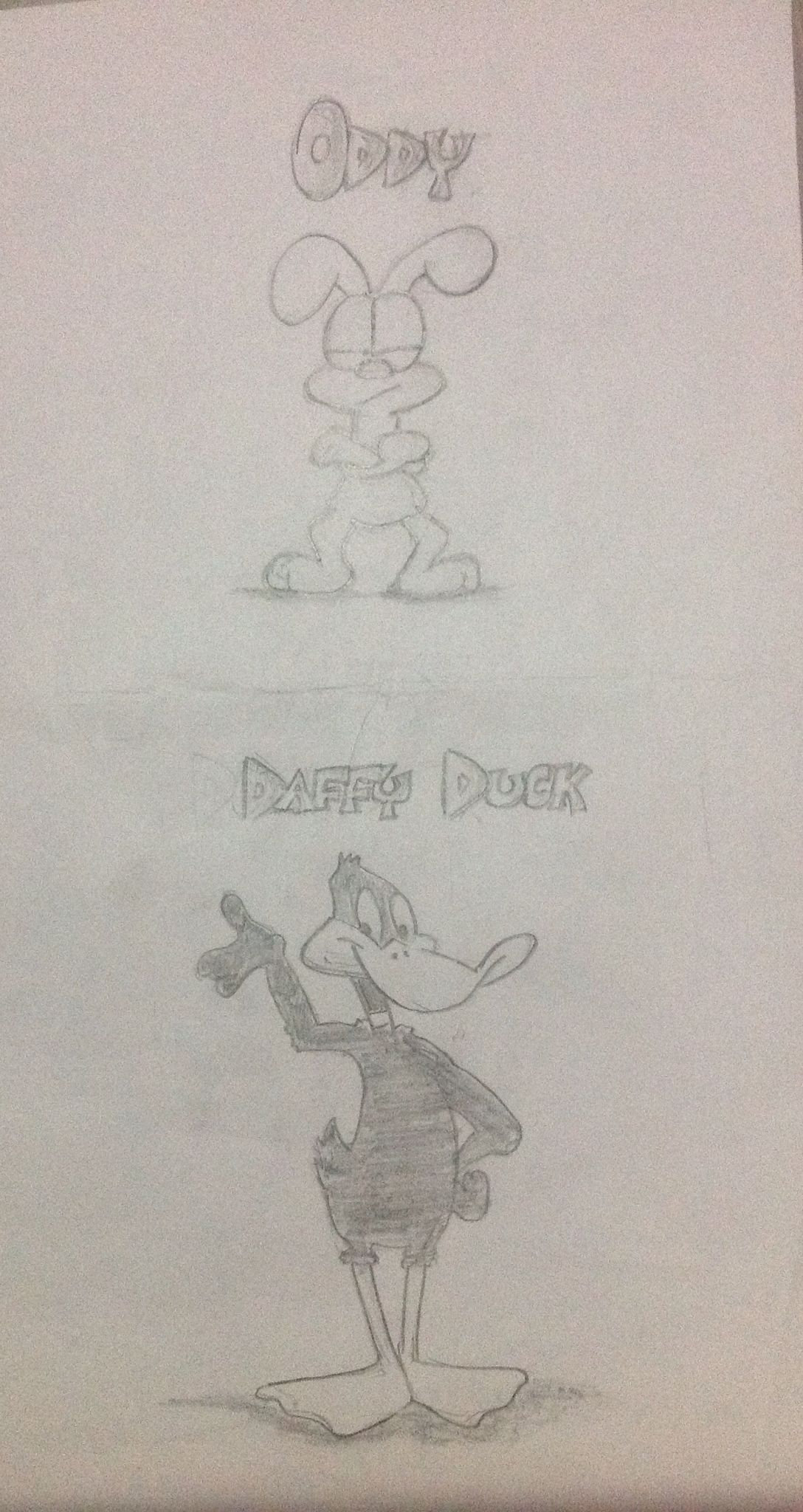 Oddy from Garfield and Daffy Duck!