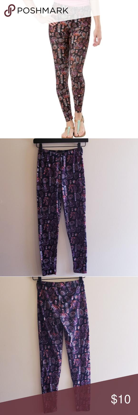 1c458e5b40579 Derek Heart Juniors Printed Yummy Leggings ▫Boho elephant print ▫Elastic  Waistband ▫So soft! ▫pre owned, great condition! Make an offer or bundle to  ...