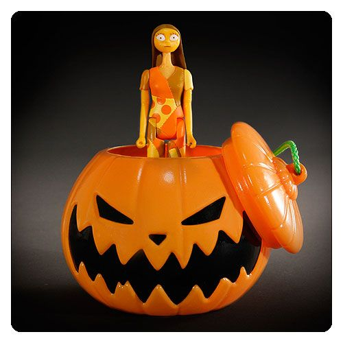 NBX Halloween Sally ReAction Figure in Pumpkin Ornament - Super7