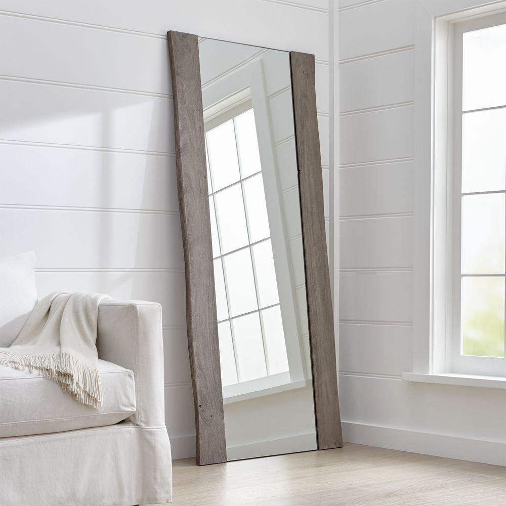 Yukon Grey Live Edge Floor Mirror In 2019 Floor Mirror