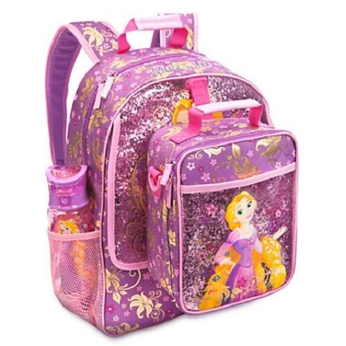 9e78392daef DISNEY STORE PRINCESS RAPUNZEL TANGLED LIGHT-UP BACKPACK LUNCH BOX TOTE -  2015  Disney  BackpackandLunchTote