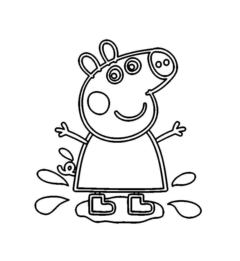 Peppa Wutz Ausmalbilder Fur Kinder Ausmalbilder Ausmalen Ausmalbilder Kinder