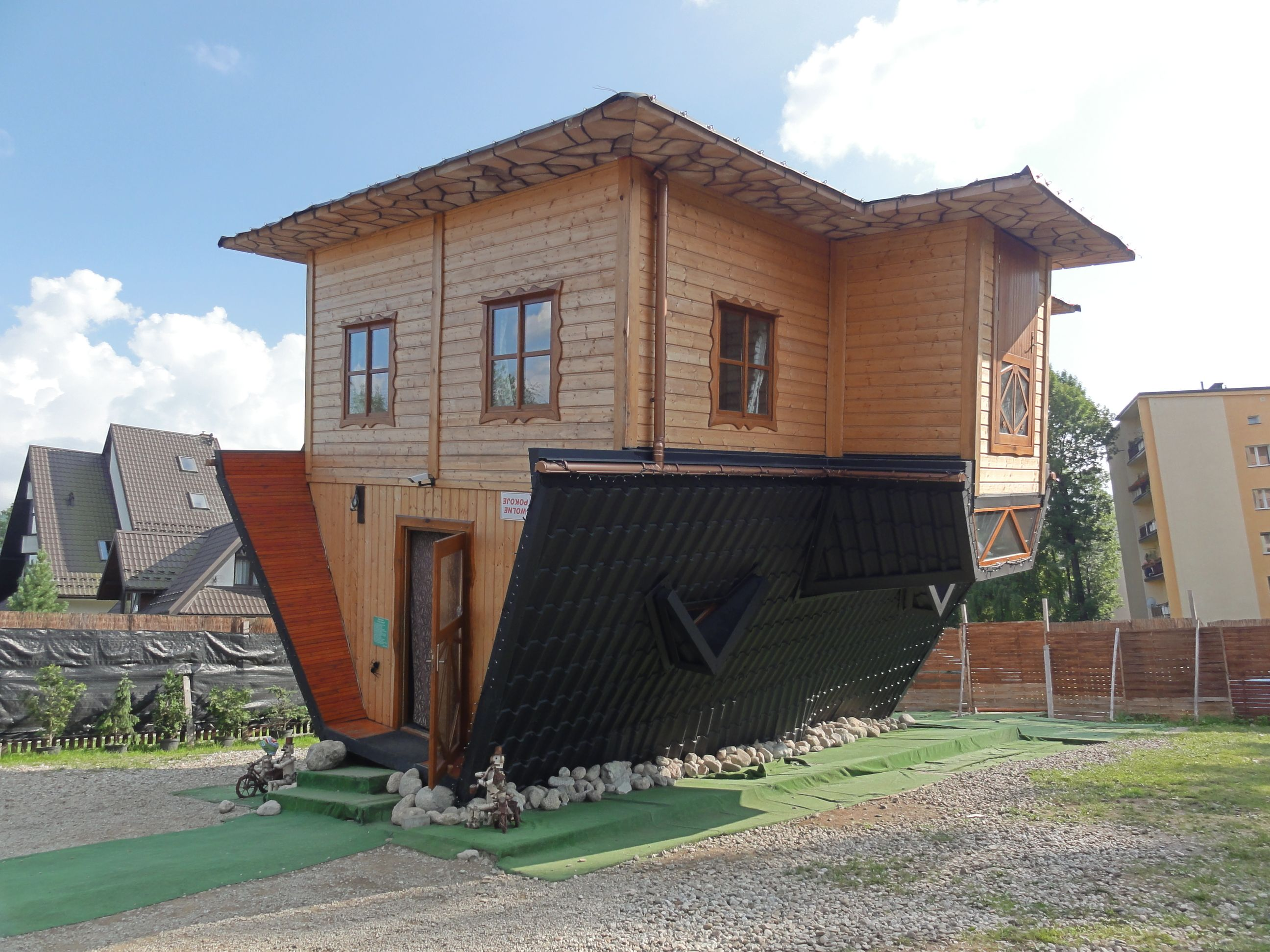 Upside Down House In Zakopane Polish Log Houses