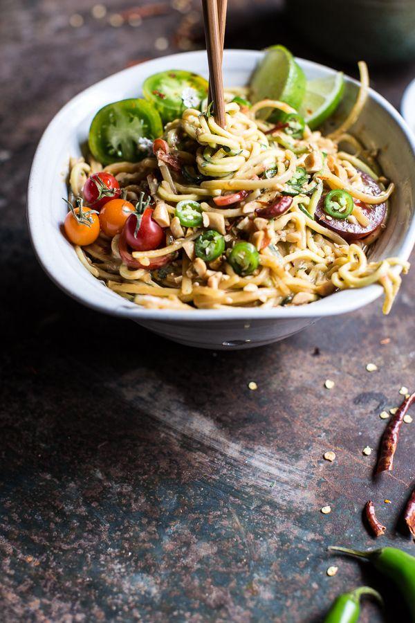 Firey Szechuan Peanut and Chili Zucchini Noodles | halfbakedharvest.com @hbharvest #Skinny4LifeEats