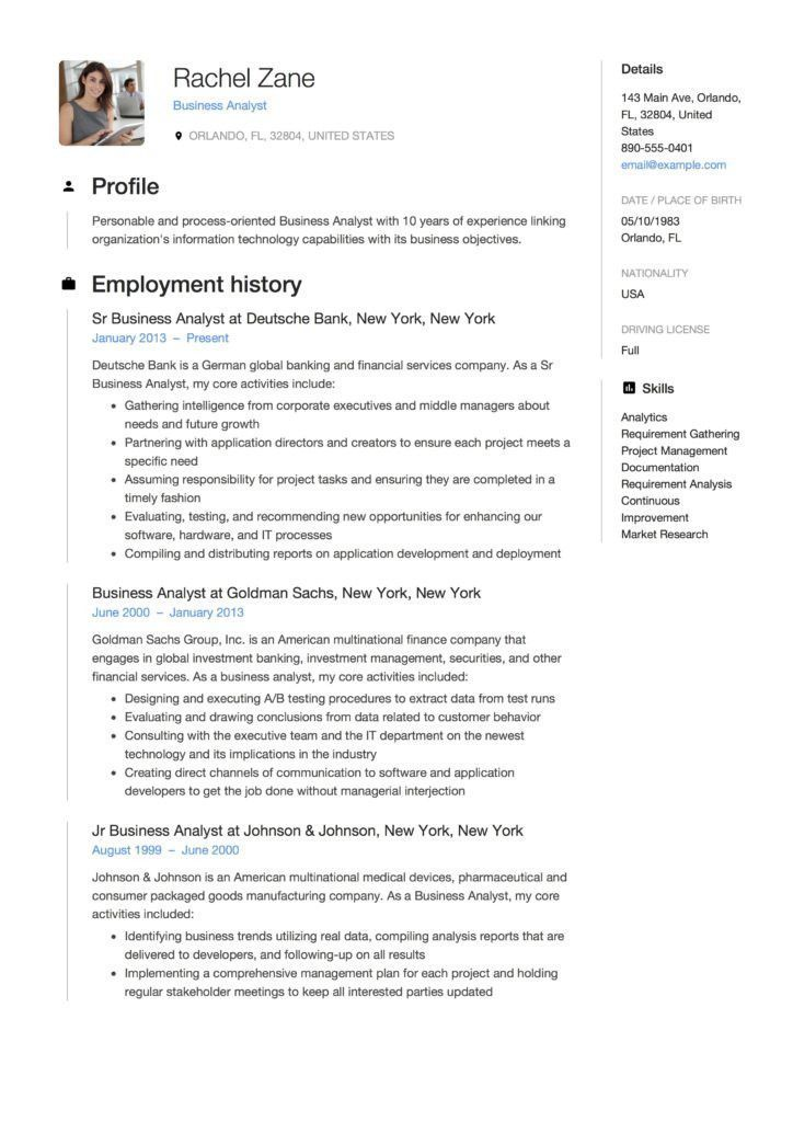 It business analyst resume contemporary full guide project