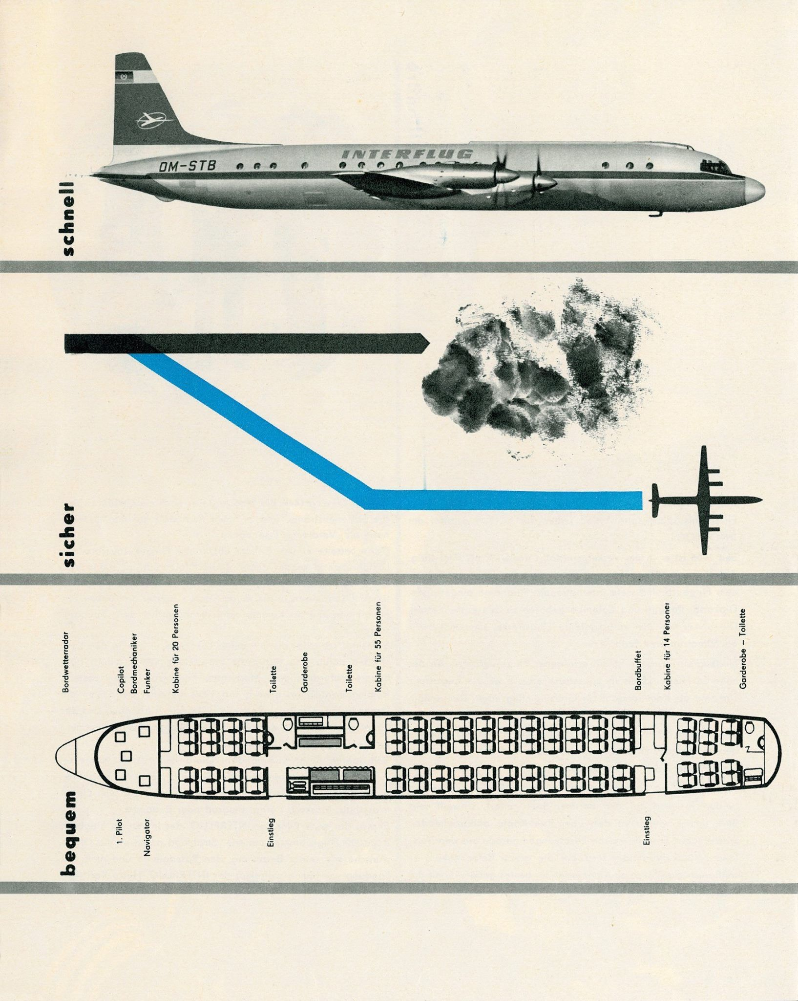 Cutaway of a pan am boeing 377 stratocruiser image from chris sloan - Interflug Il18 Seat Map