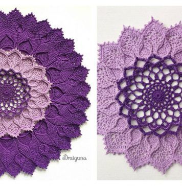 Arcanoweave Mandala Doily Free Crochet Pattern is part of Crochet patterns, Free crochet, Doilies, Crochet, Doily patterns, Free crochet pattern - The Arcanoweave Mandala Doily Free Crochet Pattern can be made in a single solid color or many colors  Create your own delightful masterpiece
