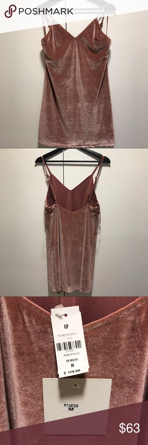 LF Stores Pink Velvet Dress Never worn. Size medium. LF