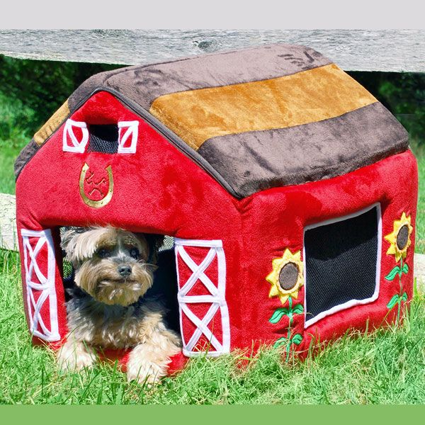 Little Red Barn Dog House Bed York Dog Outdoor Cat Enclosure