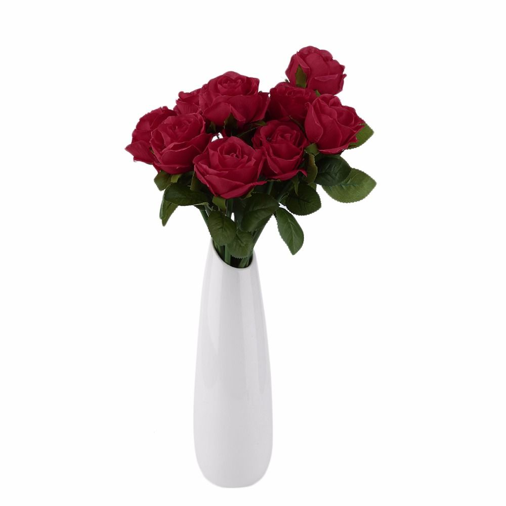 Home decor artificial flowers  pcs Rose Artificial Flowers Silk Flowers Floral Latex Real Touch