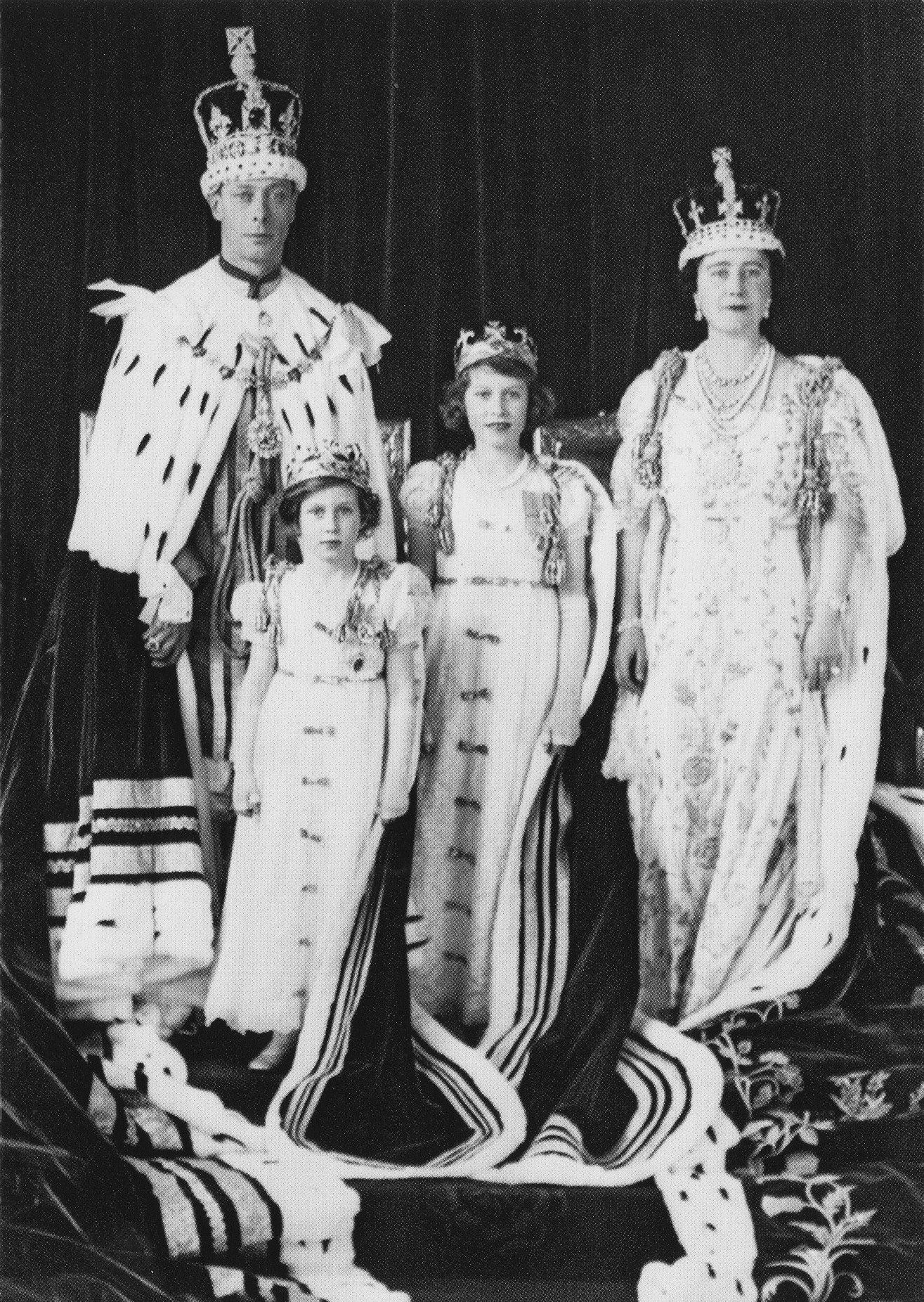 Coronation portrait of King VI, with Queen