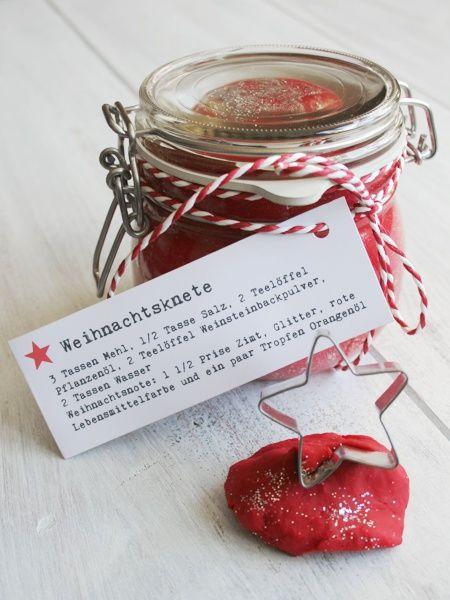 Weihnachtsknete Rezept Basteln Pinterest Weihnachtsgeschenke