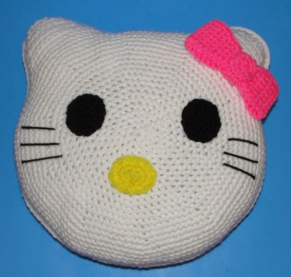Crochet Pattern for Hello Kitty Pillow by dianelangan on Etsy, $5.00 ...