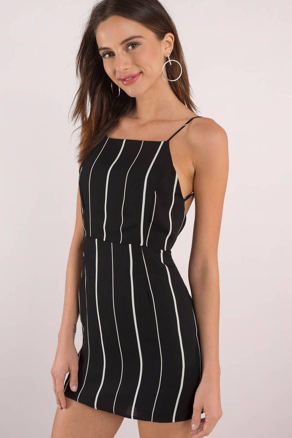 Black and white striped bodycon dress teens hilton head island